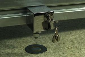 colocación de candado de seguridad